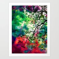 The Tree Of Many Colors … Art Print