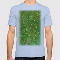 Map Mens Fitted Tee Athletic Blue SMALL