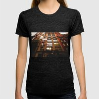 City Life Womens Fitted Tee Tri-Black SMALL