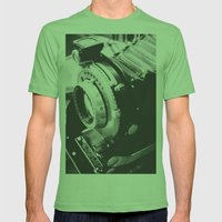 Old school  Mens Fitted Tee Grass SMALL