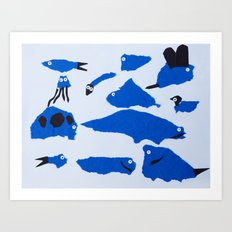 Whimsical Critters Art Print