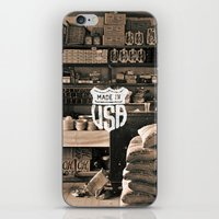 Brown White Made In USA … iPhone & iPod Skin