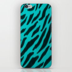 Aqua Zebra Print iPhone & iPod Skin