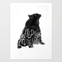 Wild Thing In The Woods Art Print