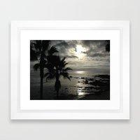Dark Paradise Framed Art Print