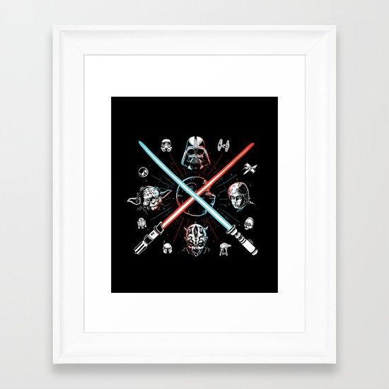 Choose a side, you must Framed Art Print