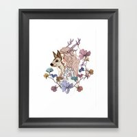 Oh My Deer Framed Art Print