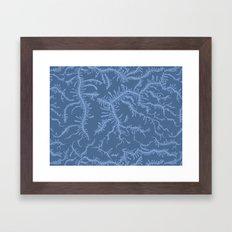 Ferning - Blue Framed Art Print