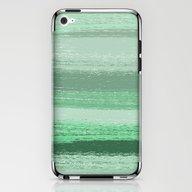 Stripey Mint iPhone & iPod Skin