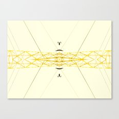 Yellow Structure Canvas Print
