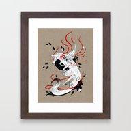 OKAMI RIBBONS Framed Art Print