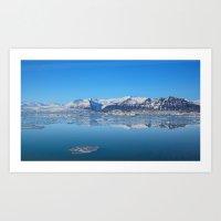 Ice lagoon 2 Iceland Art Print