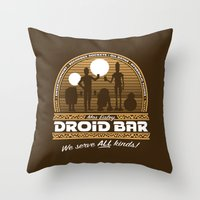 Droid Bar Throw Pillow