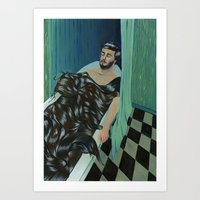 TODAY I FELL ASLEEP IN A… Art Print