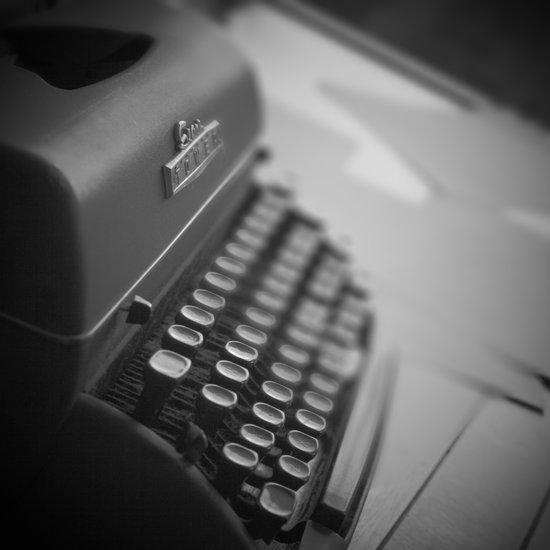Black and White Typewriter  Art Print