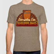 Everyday I'm Shuffling (… Mens Fitted Tee Tri-Coffee SMALL