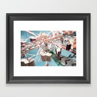 Carnival Ride Framed Art Print