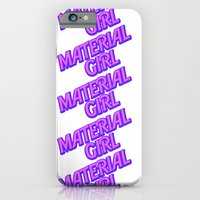 iPhone & iPod Case featuring I Am A Material Girl by RickyRicardo787