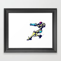 Samus Aran Color / Metro… Framed Art Print