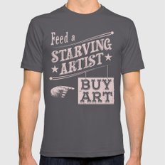 Feed an Artist Asphalt Mens Fitted Tee SMALL