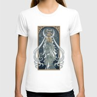 The Moon and Stars Womens Fitted Tee White SMALL