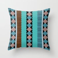 Knitted 1 Throw Pillow