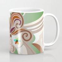 Floral curves Mug