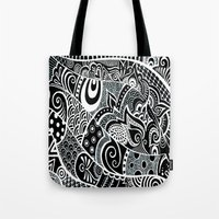 Tangled fishes Tote Bag