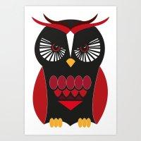 Evil Owl Art Print