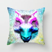 Cyan Thomson's Gazelle A… Throw Pillow