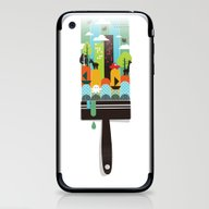 iPhone & iPod Skin featuring Paint Your World by Budi Kwan