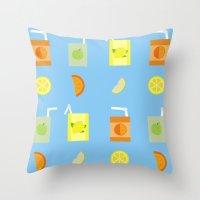 Juice Pattern  Throw Pillow