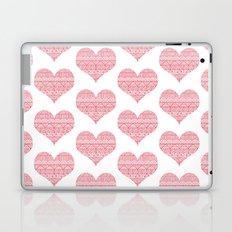 Patterned Hearts Pattern Laptop & iPad Skin
