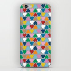 Up and Down Hearts on Grey iPhone & iPod Skin