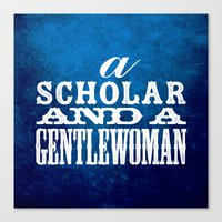 A Scholar and a Gentlewoman Canvas Print