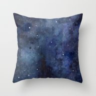 Night Sky Stars Galaxy |… Throw Pillow
