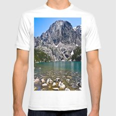 Phantom Lake SMALL Mens Fitted Tee White