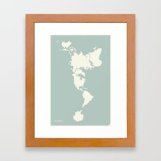 Dymaxion Map Framed Art Print