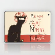 A French Ninja Cat (Le C… Laptop & iPad Skin