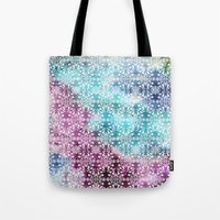 Tote Bag featuring Motif Pattern_rainbow by Suburban Bird Designs