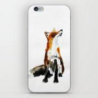 Woodland Fox (reverse edit) iPhone & iPod Skin