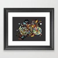 FIX TRIP ~ BLACK Framed Art Print