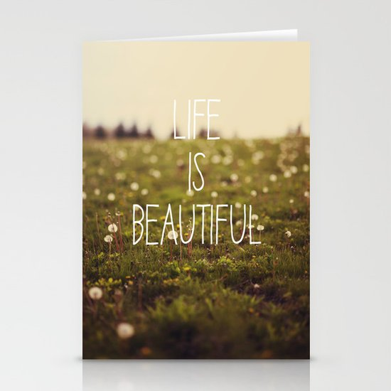 Life is Beautiful (Dandelion) Stationery Card
