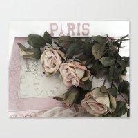French Decor Paris Marke… Canvas Print