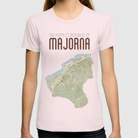 Map of the people's republic of Majorna Womens Fitted Tee Light Pink SMALL