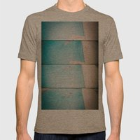 lazy daisy Mens Fitted Tee Tri-Coffee SMALL