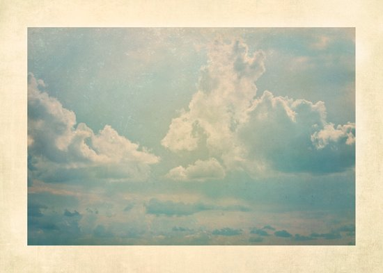 Vieja postal del cielo Art Print