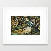 Earth & Heaven Meeting  Framed Art Print