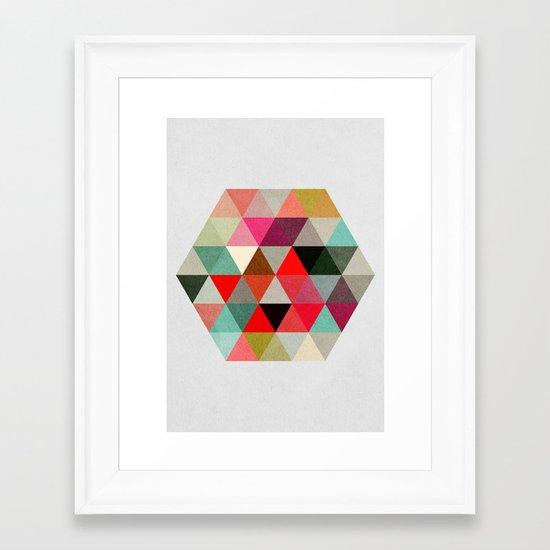 Geo Hex 03. Framed Art Print