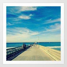 Pier Blue Art Print